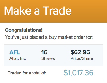 AFL stock trade