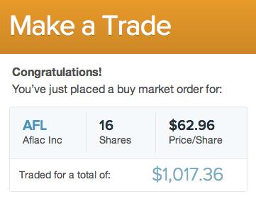 AFL stock trade