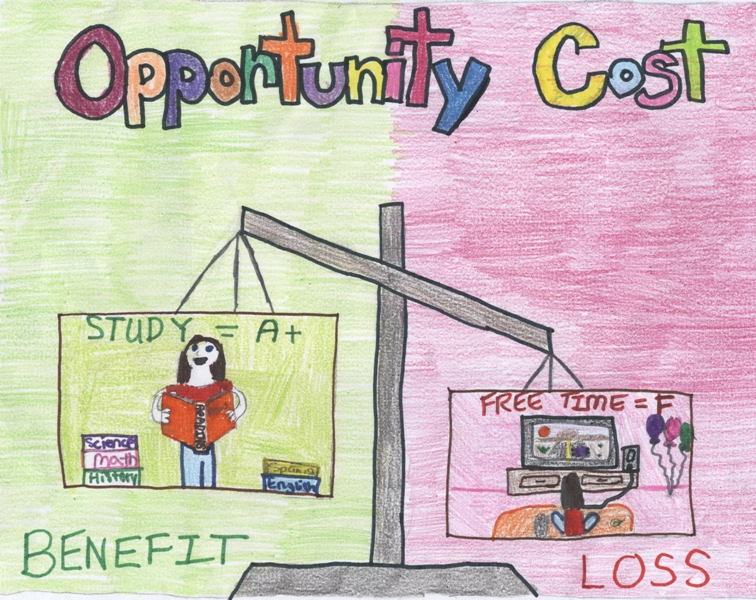 the concept of opportunity cost The opportunity cost represents the alternative given up when choosing one resource over another these two concepts have a direct link because, for example, companies may use a lower quality but more available resource for producing goods.
