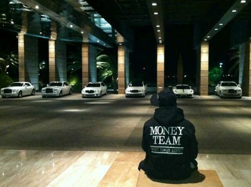Floyd Mayweather and his fleet of cars