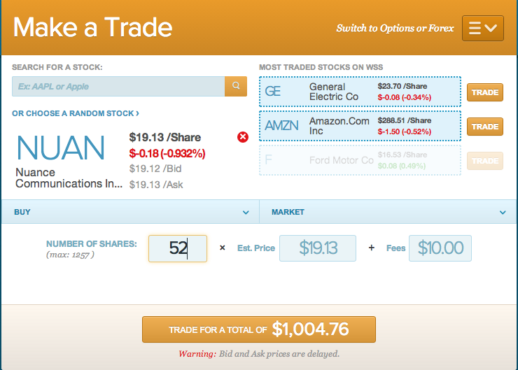 NUAN trade