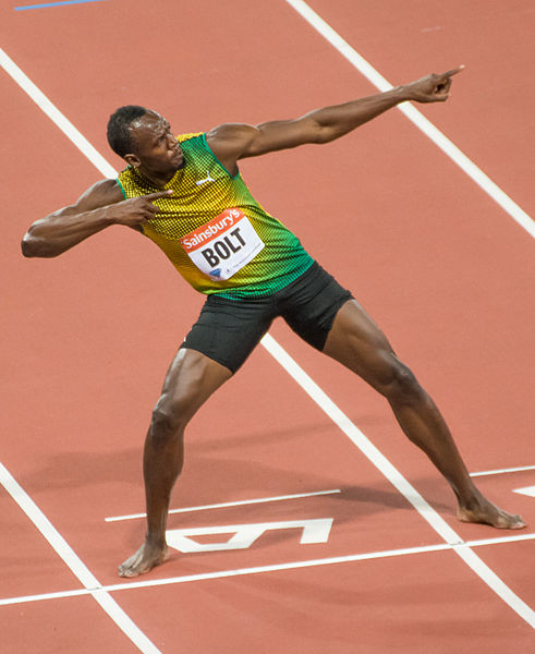 Usain Bolt S&P 500 and Dow Jones break records